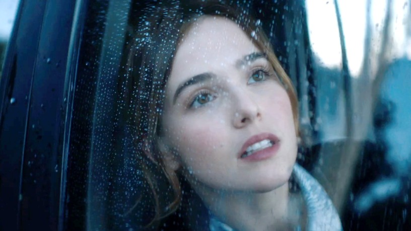 Zoey Deutch looking out the car window in Before I Fall