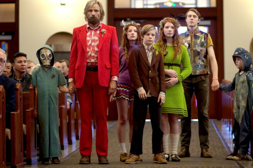 Ben (Viggo Mortenson) and family in Captain Fantastic
