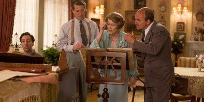 Meryl Streep, Hugh Grant, and Simon Helberg in Florence Foster Jenkins