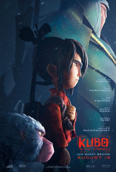 Kubo, Monkey, and Beetle in the Kubo and The Two Strings Poster