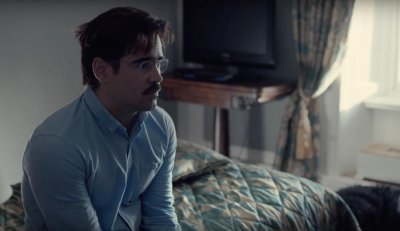 Colin Farrell sits in The Lobster